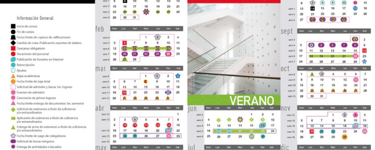 Calendario de actividades Universidad Iberoamericana